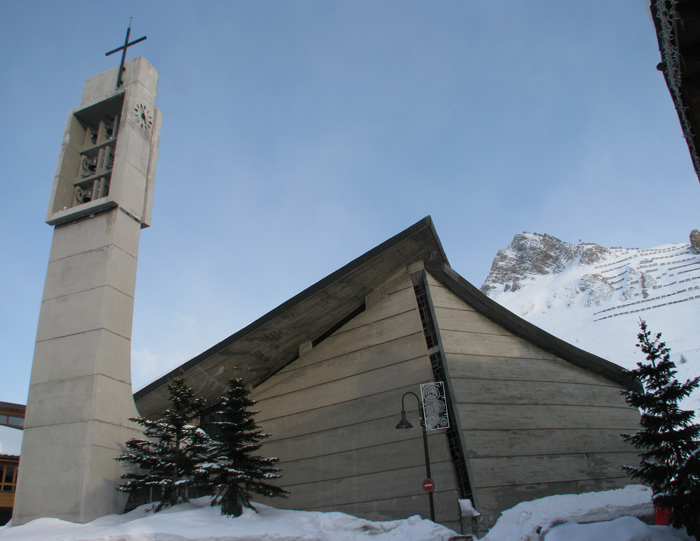 chapelle de la transfiguration tignes architecture contemporaine contemporary church